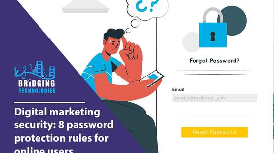 Digital marketing security: 8 password protection rules for online users